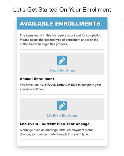 Enrollment Types Interface
